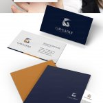 business card and folder