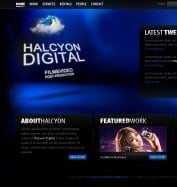 Six Design - Halcyon Digital website - Home v.7 - Blue forest