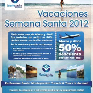 Design Contest For Print Advertisement Monteparaiso Travel Tours
