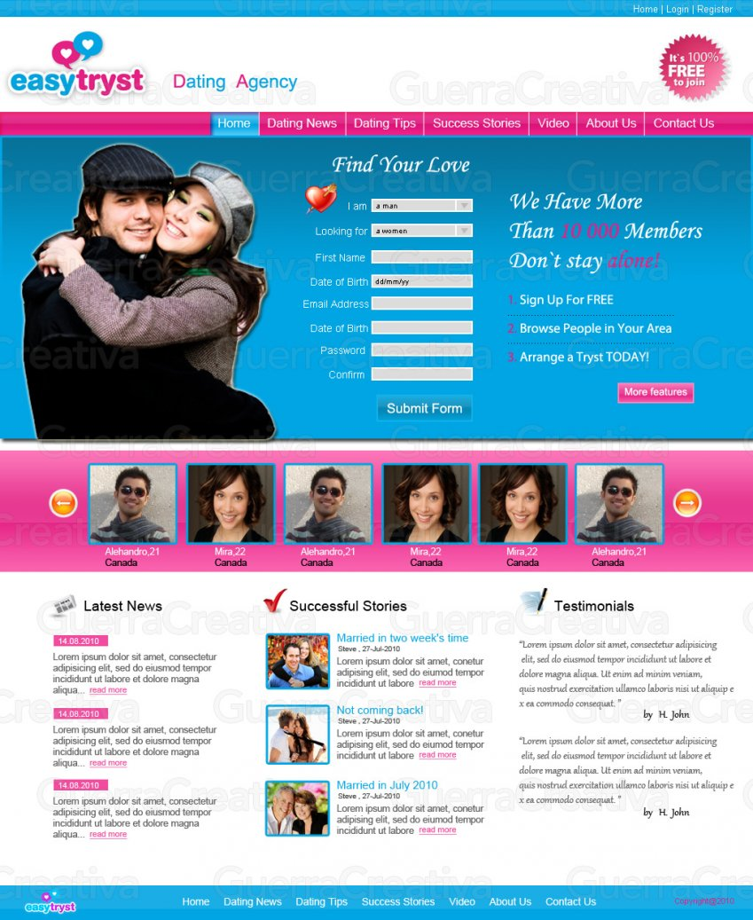 Tryst dating site