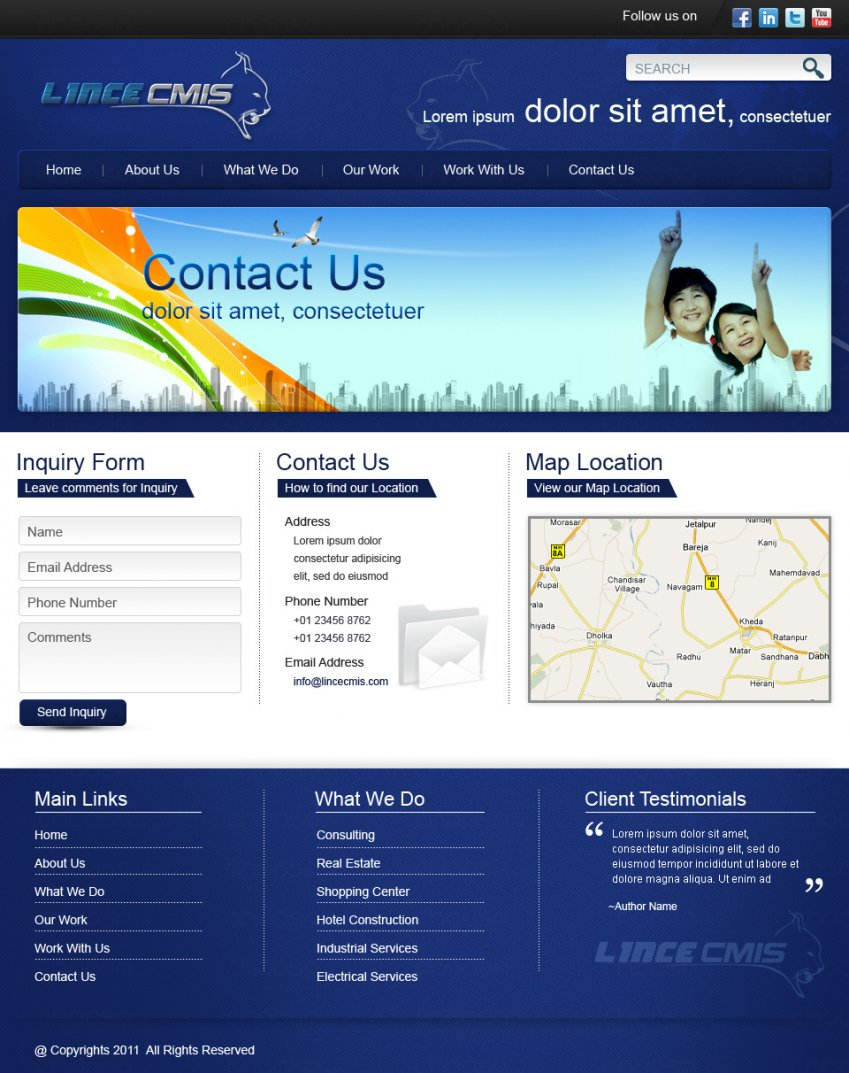 website design for linceweb contact us