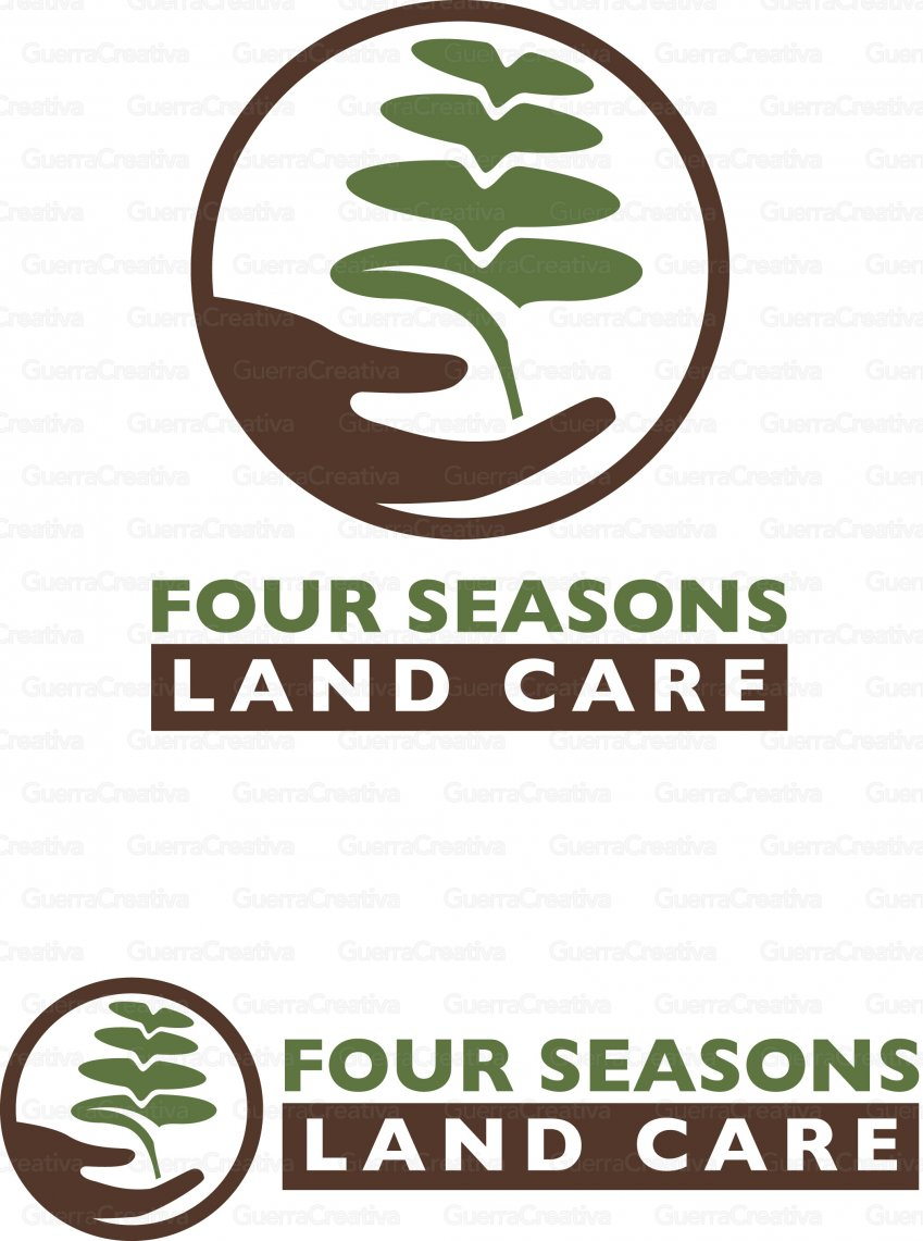Four Seasons Land Care Logo (can be displayed as logo on top or vertical line)