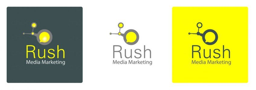 Rush Media Marketing isologotipo