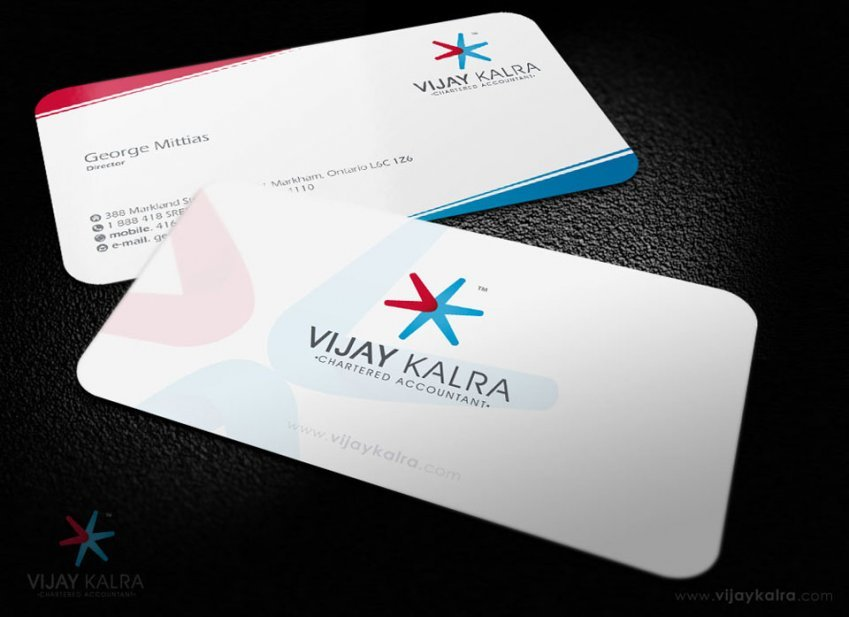 accountants business card