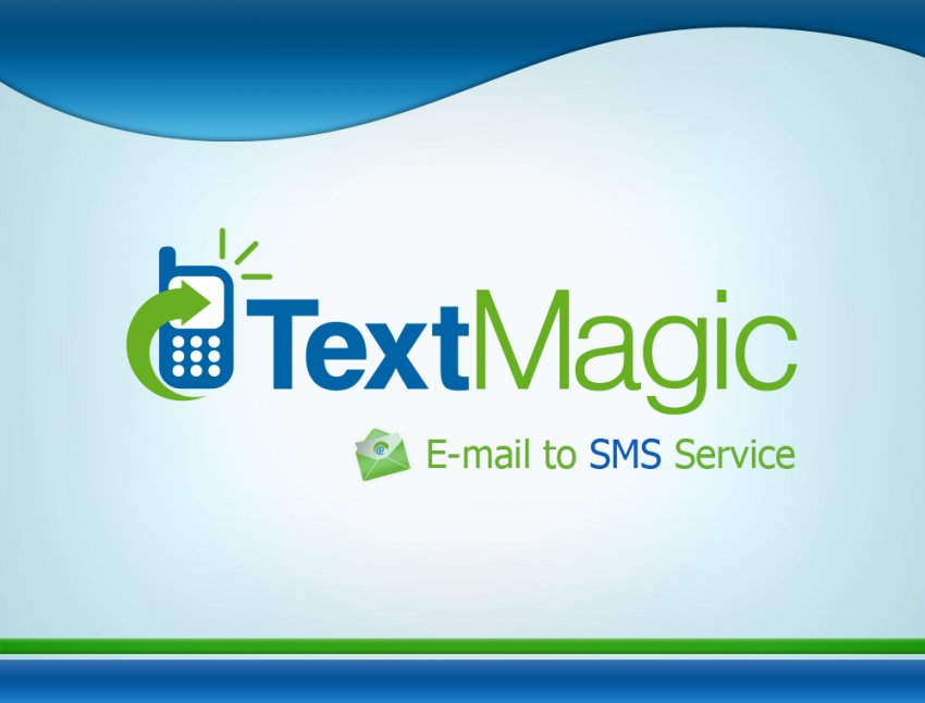 TextMagic Front Page Template - Presentation cover page template