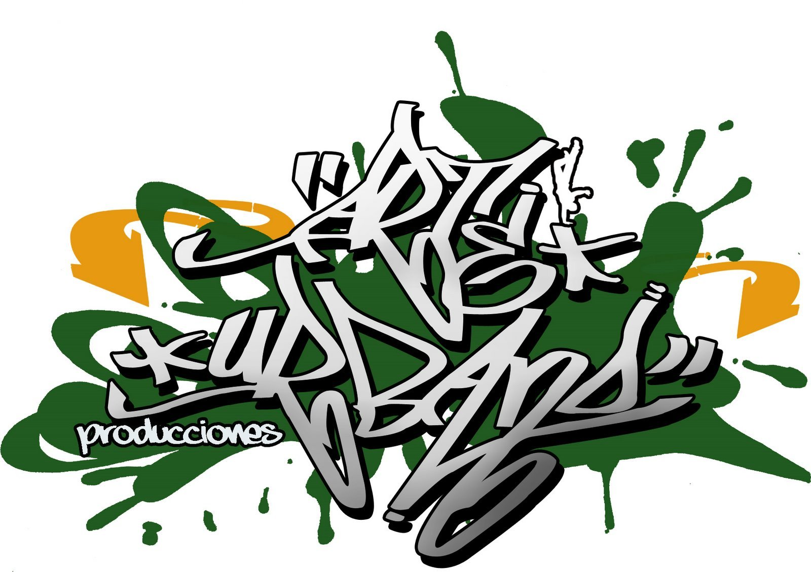 Arte Urbano Logo Logotipo Para Grupo de Hiphop