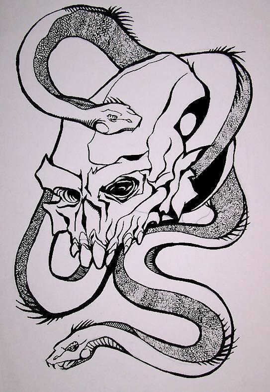 Guerra Creativa  Calavera y Serpientes