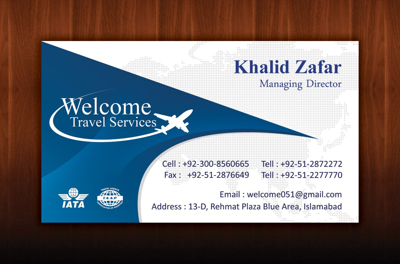 Travel business cards business card design for Where can i get business cards printed same day